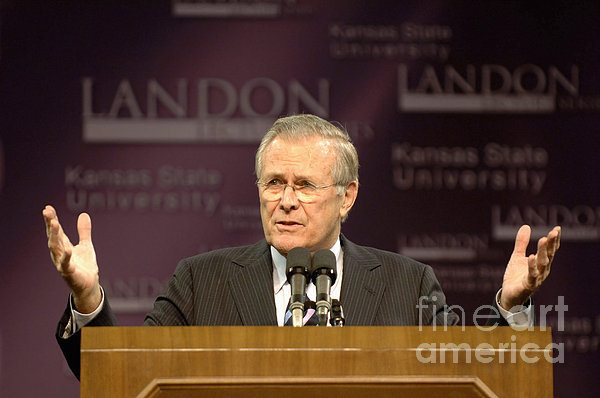 Secretary Of Defense Donald H. Rumsfeld Print by Stocktrek Images