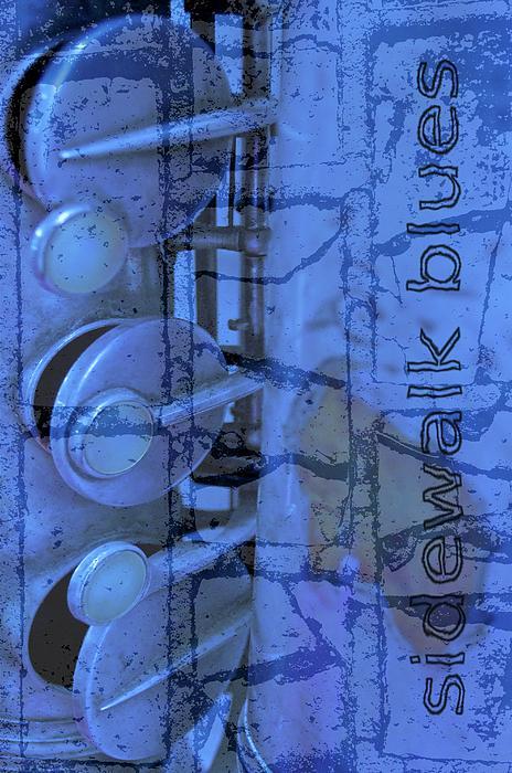 Sidewalk Blues Print by Gwyn Newcombe