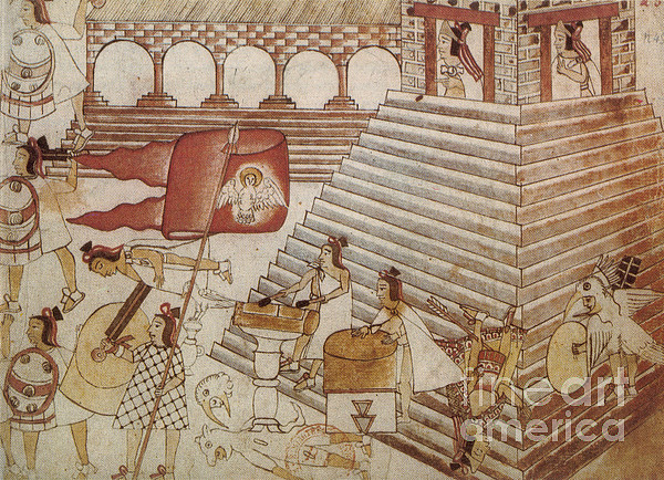 Siege Of Tenochtitlan 1521 Print by Photo Researchers