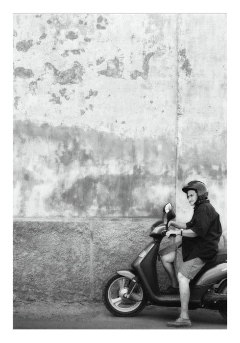 Signora Black And White Print by Marco Hietberg