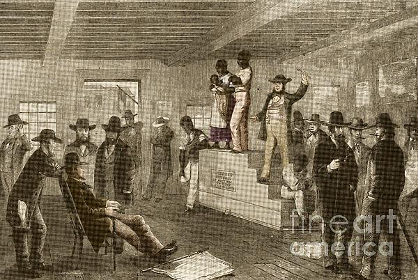 Slave Auction, 1861 Print by Photo Researchers