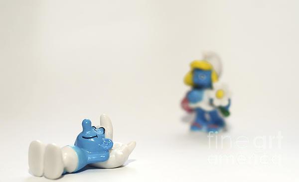 Smurf Figurines Print by Amir Paz