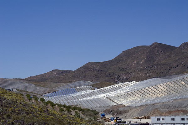 Solar Power Plant, Cala San Pedro, Spain Print by Chris Knapton