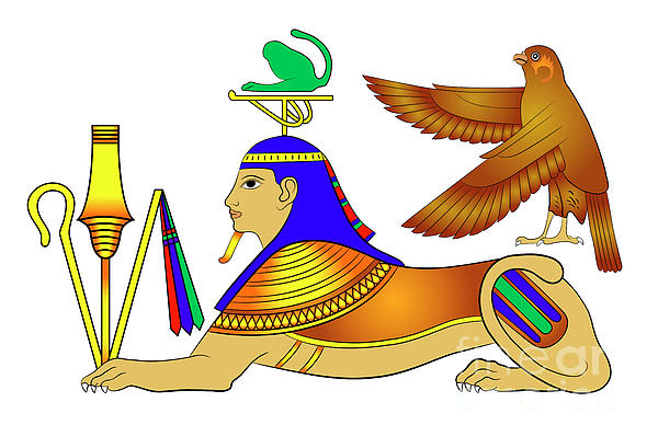 Sphinx - Mythical Creatures Of Ancient Egypt Print by Michal Boubin