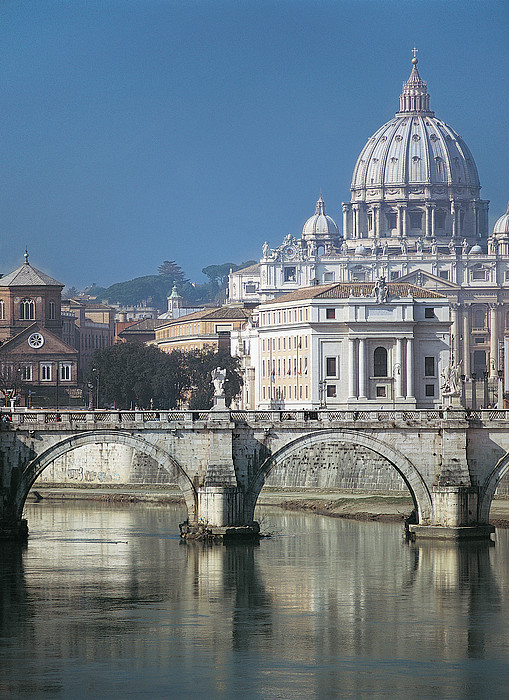 St Peters Basilica, Rome, Italy Print by Martin Child