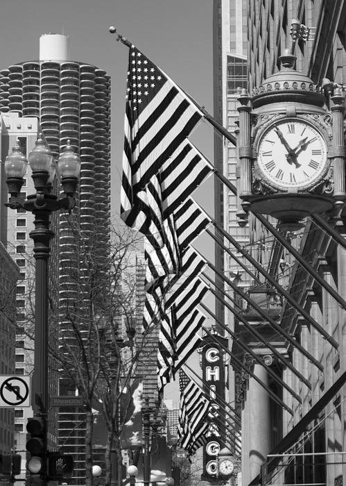 State Street Scene - 1 Print by Sheryl Thomas