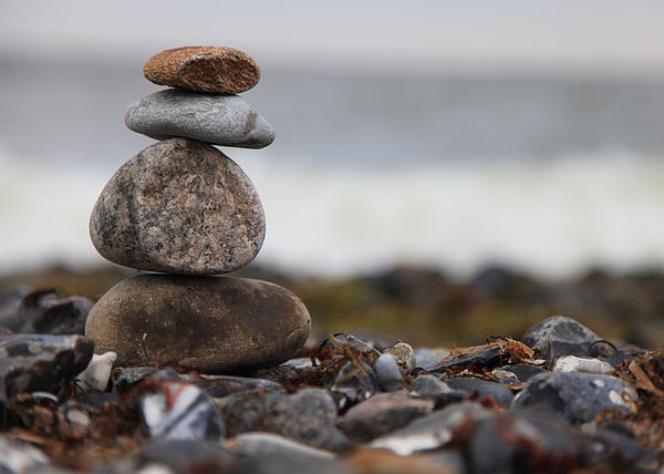 Stones At The Sea Print by Falko Follert
