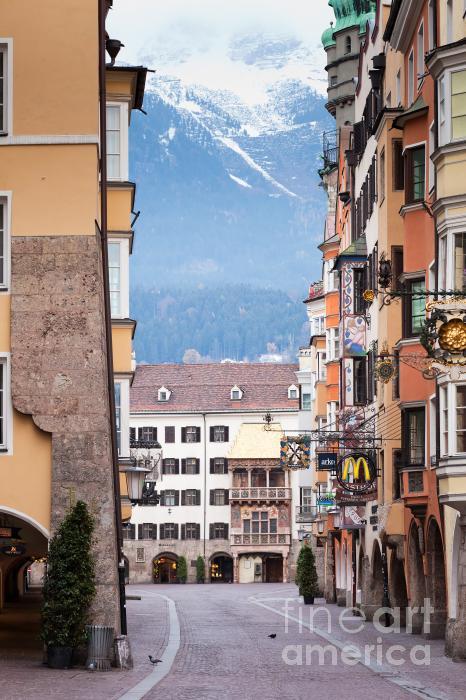 Streets Of Innsbruck Print by Andre Goncalves
