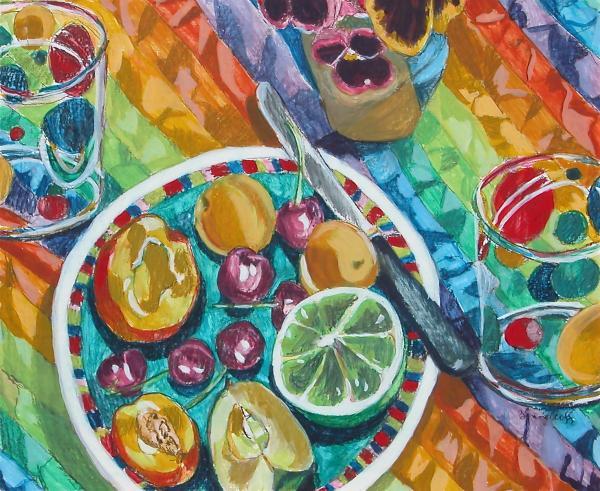 Summer Breakfast Print by Jan Bennicoff