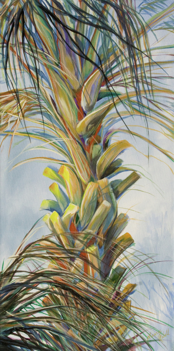Sunlit Palm Print by Michele Hollister - for Nancy Asbell