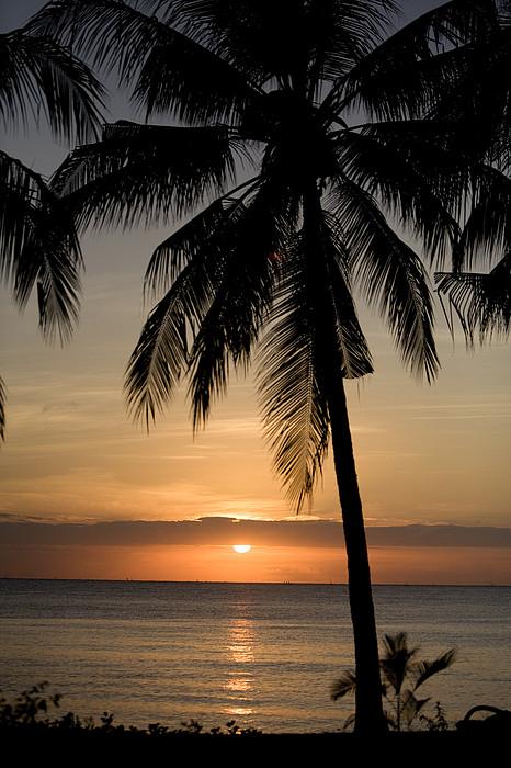Sunrise At Bali Island Print by Tim Laman