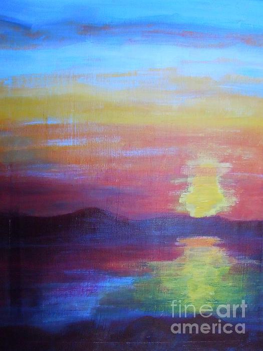 Sunrise Seascape Print by Lam Lam