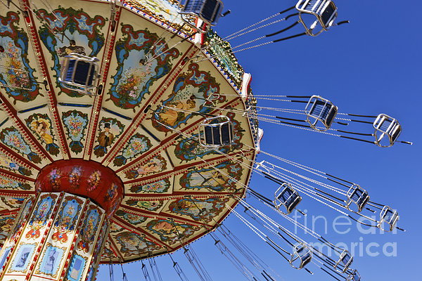 Swing Ride At The Fair Print by Jeremy Woodhouse