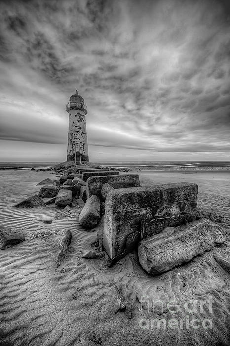 Talacre Lighthouse Print by Adrian Evans