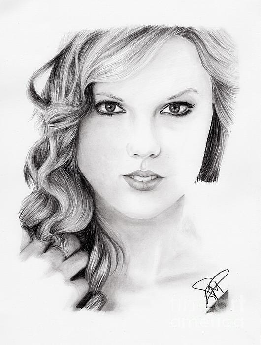 Taylor Swift 2 Print by Rosalinda Markle