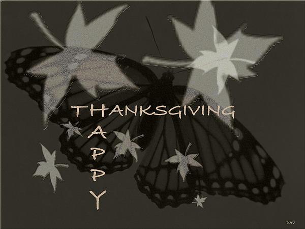 Thankful Holiday Card Print by Debra     Vatalaro