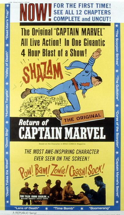 The Adventures Of Captain Marvel, Tom Print by Everett
