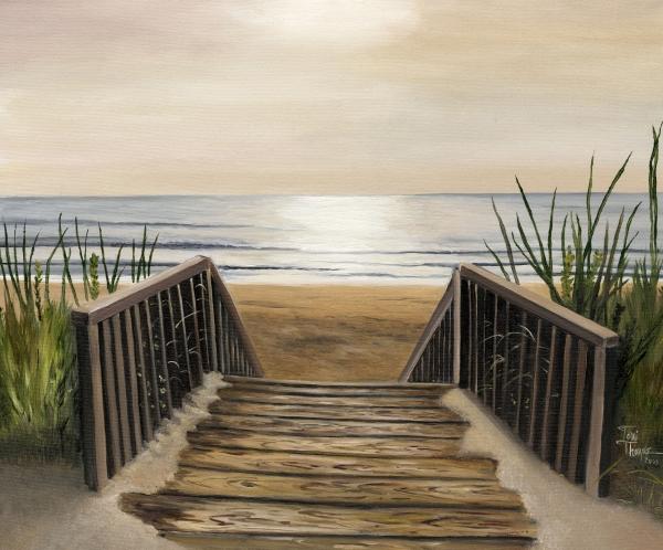 The Beach Print by Toni  Thorne
