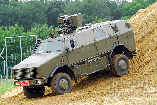 The Dingo 2 Mppv Of The Belgian Army Print by Luc De Jaeger