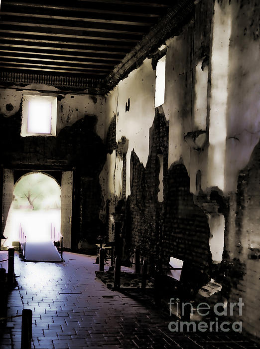 The Ghostly Nave Print by Donna Van Vlack