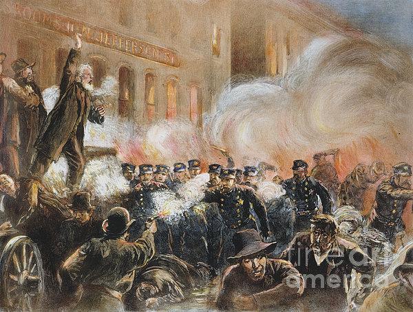 The Haymarket Riot, 1886 Print by Granger