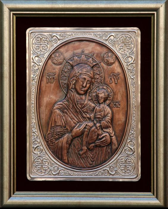 The Holly Mother With Jesus Christ Print by Netka Dimoska