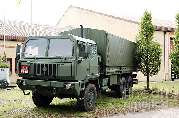 The Iveco M250 8 Ton Truck Used Print by Luc De Jaeger