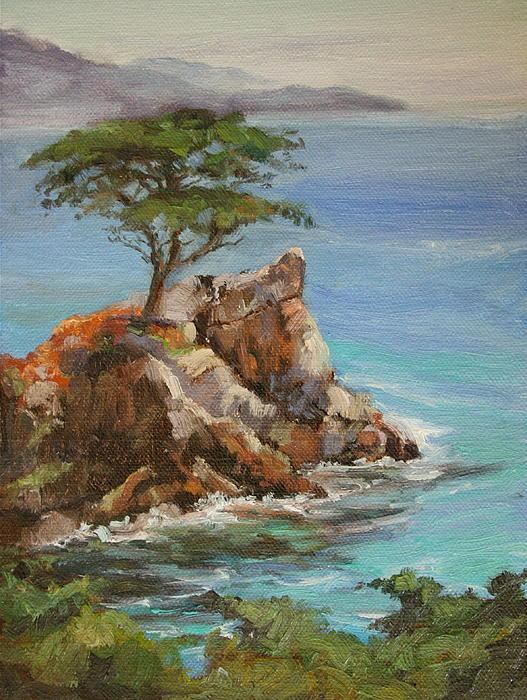 The Lone Cypress Print by Kristen Olson