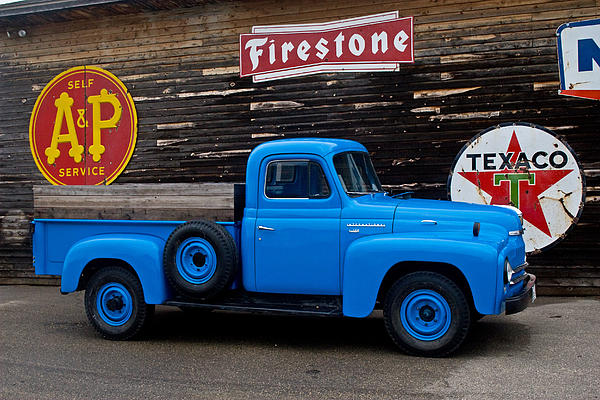 The Old Farm Truck Print by Wayne Stabnaw
