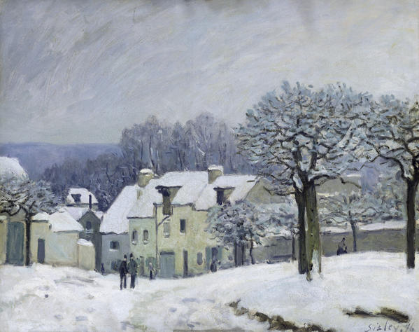 The Place Du Chenil At Marly Le Roi Print by Alfred Sisley