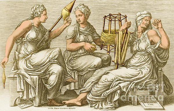 The Three Fates Print by Photo Researchers