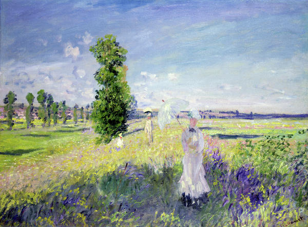 The Walk Print by Claude Monet