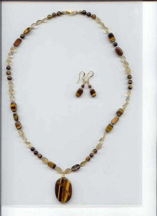 Tiger Eye Citrine Jewelry