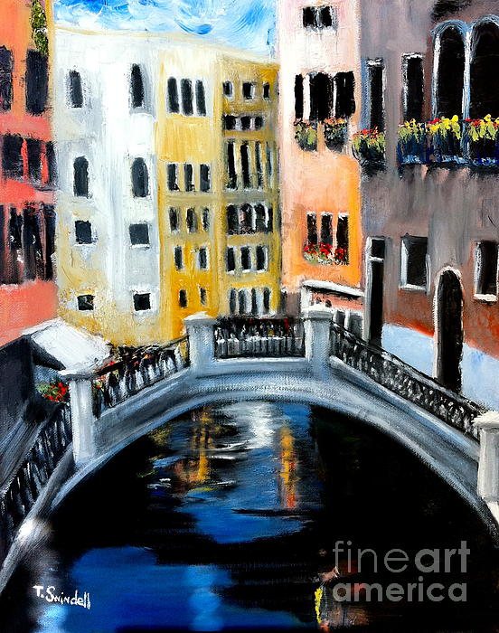Tranquility In A Sea Of Tourists Print by Tina Swindell