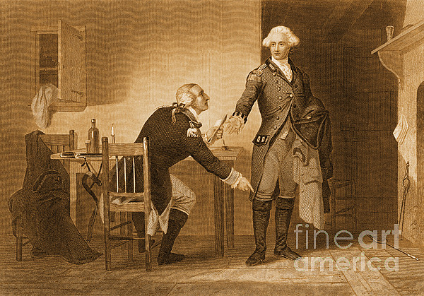 Treason Of Benedict Arnold, 1780 Print by Photo Researchers