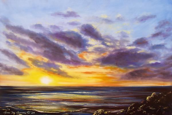 Tropical Sunset Print by Gina De Gorna