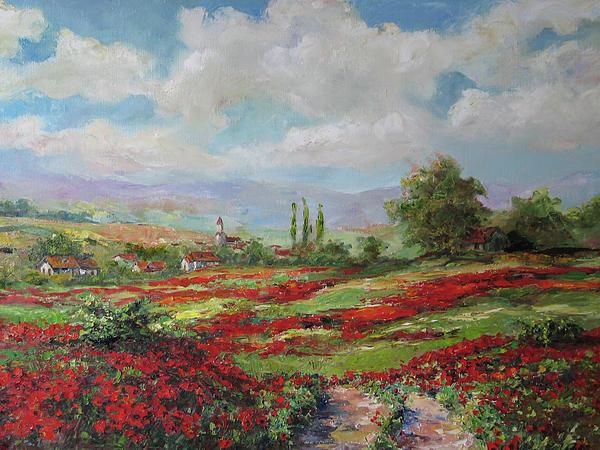 Tuscan Landscape Print by Tigran Ghulyan