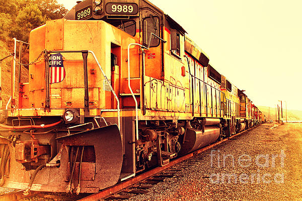 Union Pacific Locomotive Trains . 7d10588 Print by Wingsdomain Art and Photography