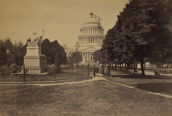 United States Capitol Building In 1863 Print by Everett