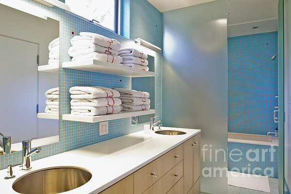 Upscale Bathroom Interior Print by Inti St. Clair
