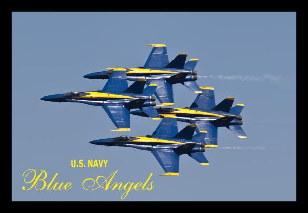 Us Navy Blue Angels Poster Print by Dustin K Ryan