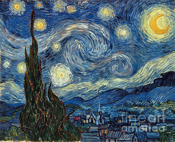 Van Gogh Starry Night Print by Granger