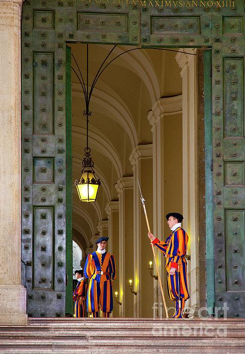Vatican Entrance Print by Brian Jannsen