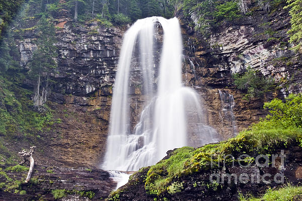 Virginia Falls Print by Scotts Scapes