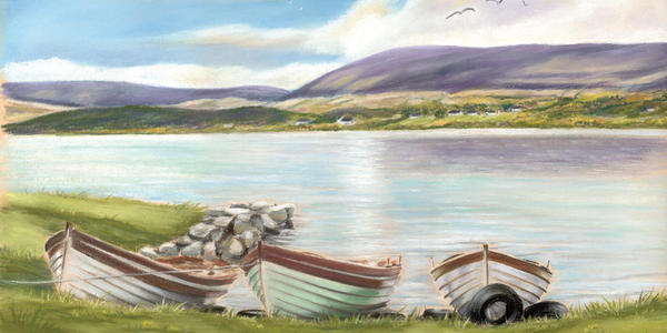 Waiting For The Mayfly Print by Vanda Luddy