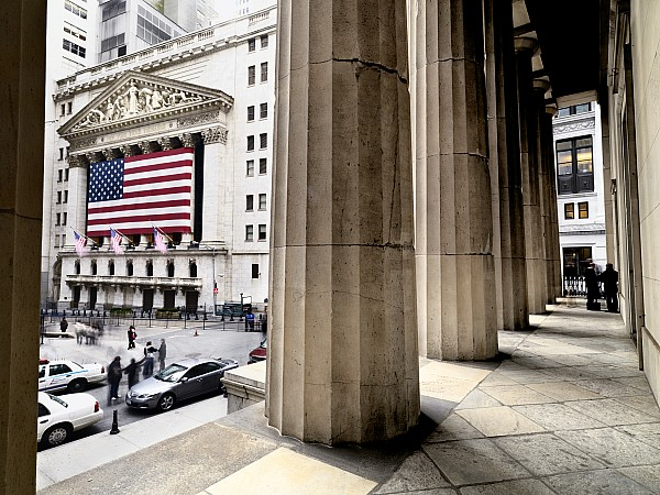 Wall Street And The New York Stock Print by Justin Guariglia