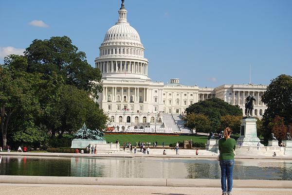 Washington Dc Capitol  Print by Lissandra Melo