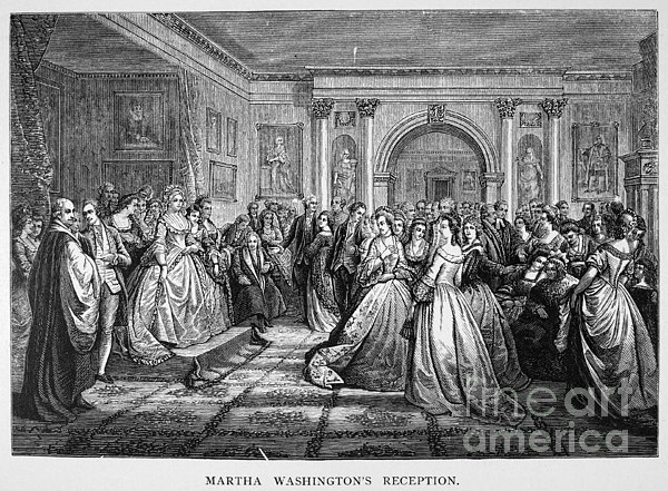 Washington Reception Print by Granger