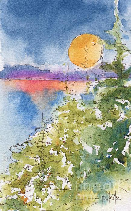 Waskesiu Sunset Print by Pat Katz