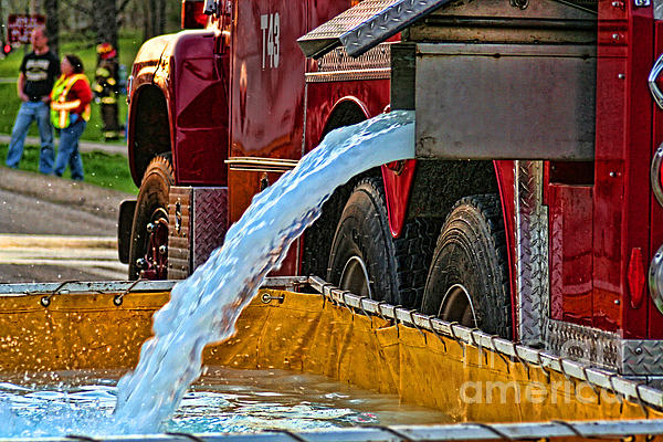 Water Dump Print by Tommy Anderson